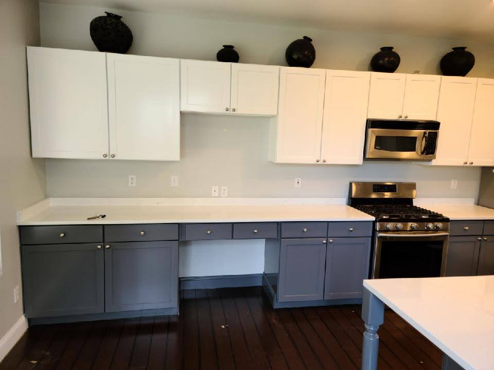 Two-Tone Kitchen Cabinet Painting in Auburn, WA